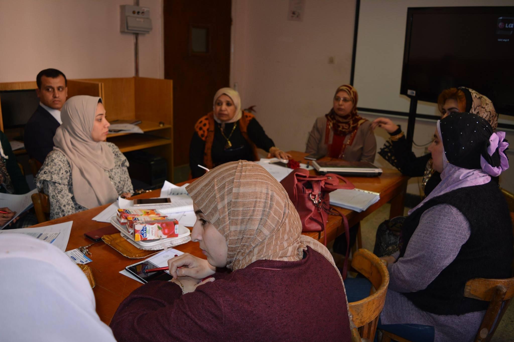 اجتماعات مناقشة أعمال الجودة بالبرنامج