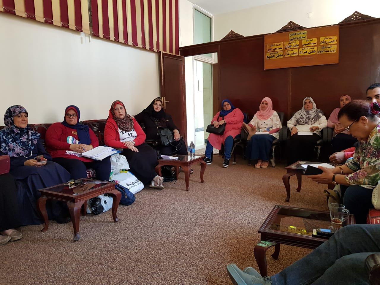 اجتماع مجلس برنامج الجودة في قسم علم الاجتماع ومراجعة أعمال اللجان ومتابعة المعايير