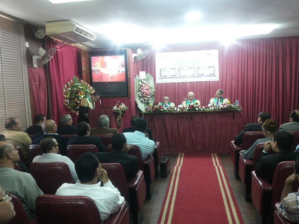 مناقشة رسالة الباحث/احمد محمد محمد عبد الفتاح