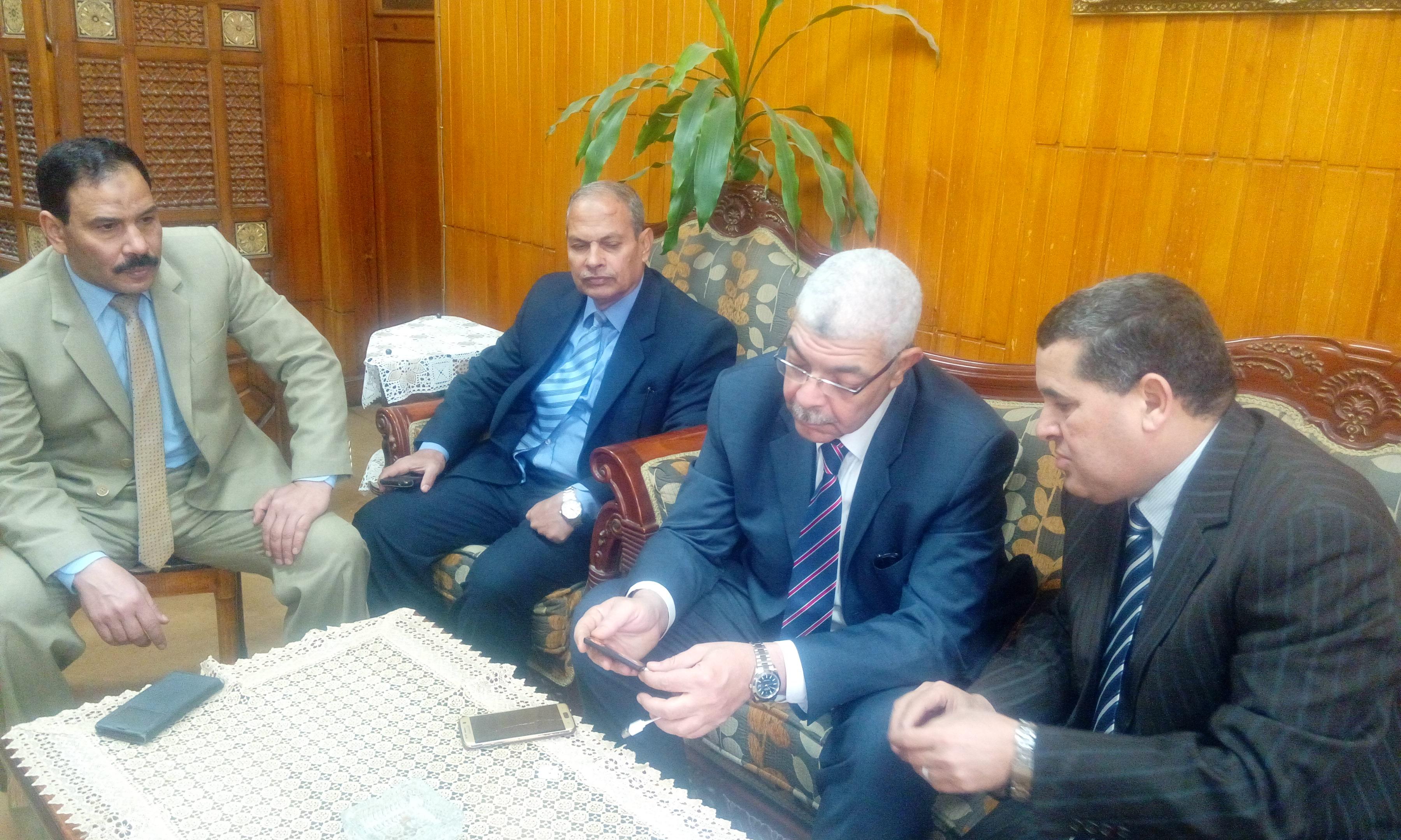 زيارة السيد الاستاذ الدكتور أحمد فرج القاصد  نائب رئيس الجامعة للدراسات العليا والبحوث