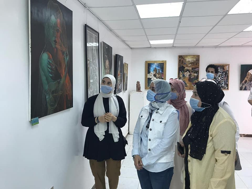 معرض تشكيلي ضمن فعاليات الاسبوع الثقافي البيئي الثامن
