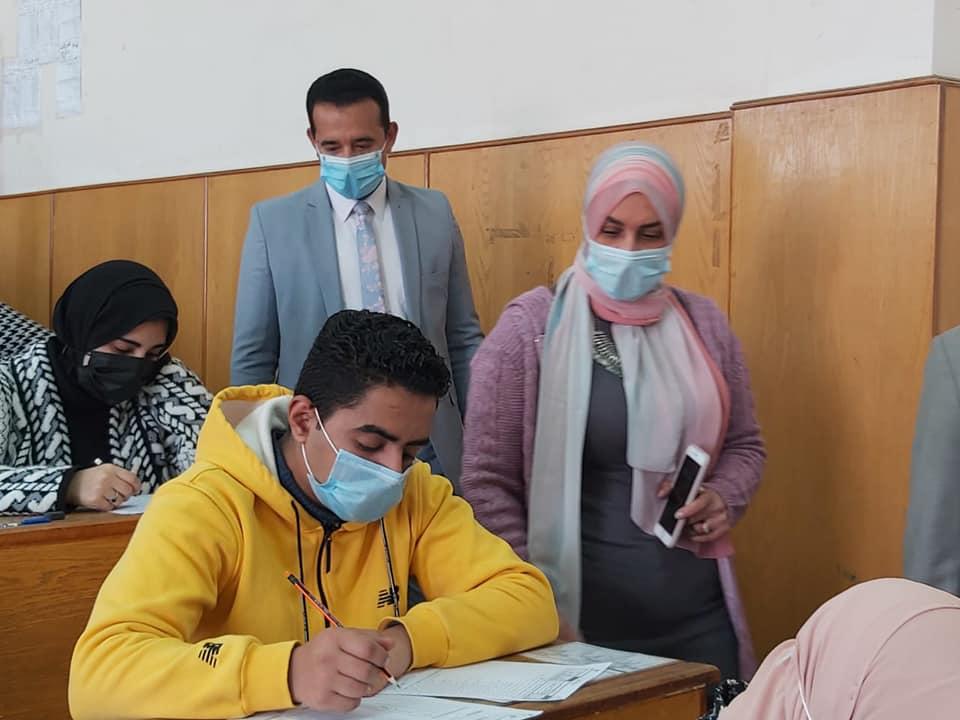 Mustafa checks the progress of the first semester qualitative examinations.