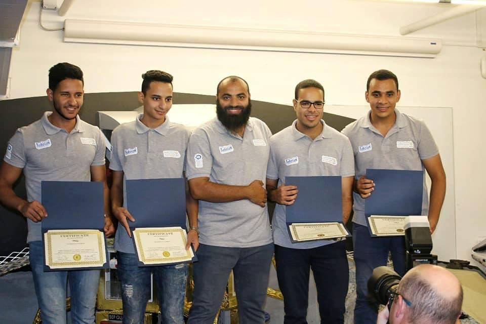 """فريق """"هندسة منوف """" يفوز بالمركز الأول في المسابقة العالمية IDC ROBOCON 2019"""
