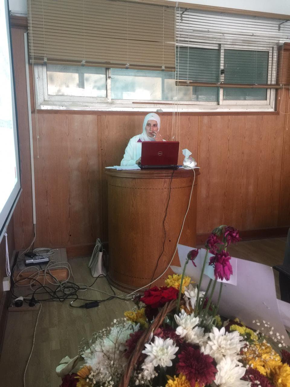 مناقشة رسالة ماجستيرللمهندسة/ زينب زكريا محمود القارح