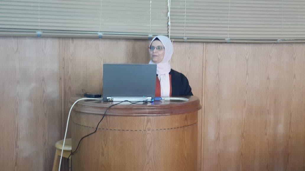 مناقشة رسالة الدكتوراه للمهندسة/ سامية محمد محمد عبد الحليم