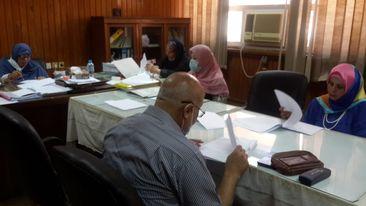 إجتماع لجنة العلاقات الثقافية بكلية الهندسة الإلكترونية بمنوف.