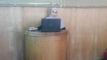 مناقشة رسالة ماجستير للمهندسة/ إسراء مصطفي محمد غريب