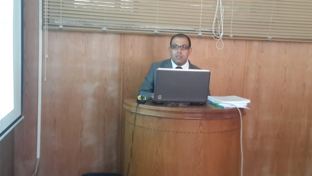 مناقشة رسالة ماجستيرللمهندس / شادي ممدوح عبد الرحيم ابراهيم