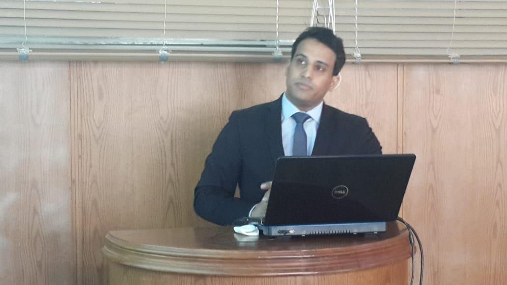 مناقشة رسالة دكتوراه للمهندس/ طارق رجب امين خليفة