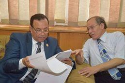 رئيس جامعة المنوفية يتفقد إمتحانات كلية الهندسة الإلكترونية