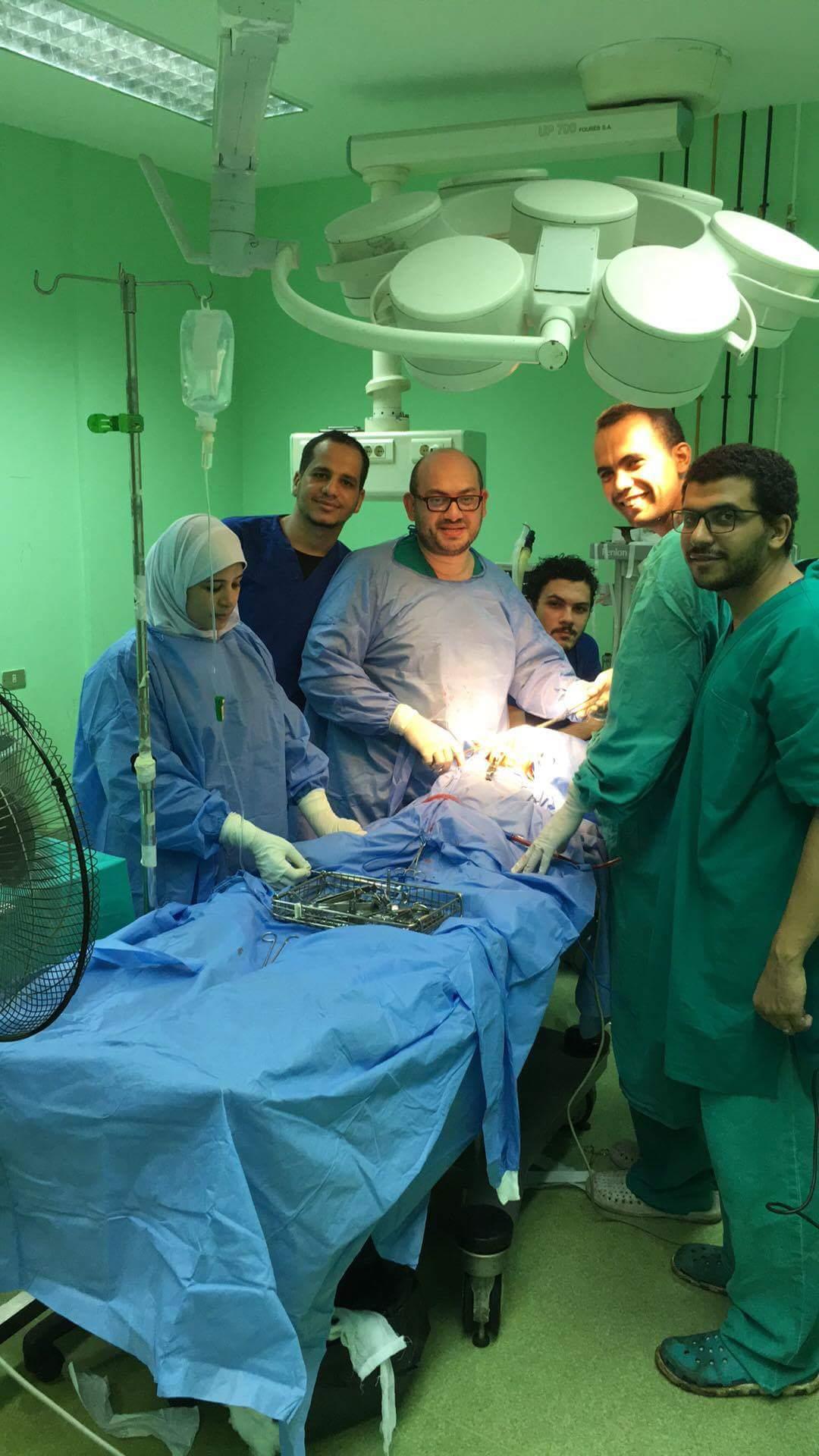 إجراء  عمليات جراحية ناجحة  لعشرة أطفال  بمستشفيات جامعة المنوفية