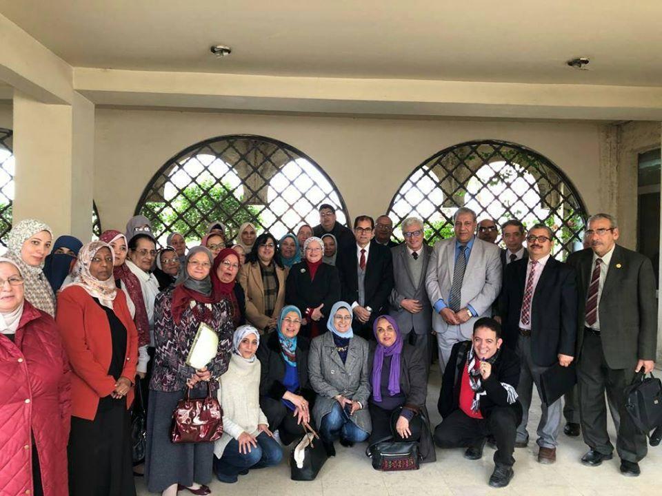 تعاون وحدة القياس والتقويم بطب المنوفيه مع الجامعات الاخري