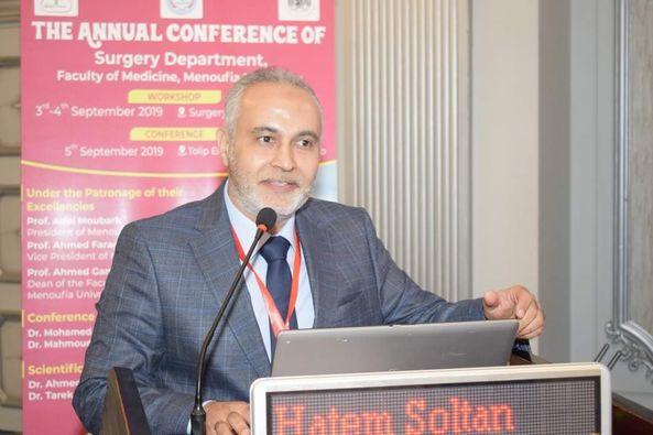 تجديد تعيين الدكتور حاتم سلطان رئيسا لقسم الجراحة العامة بطـب المنوفـيـة