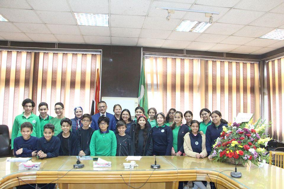 طب المنوفية تستضيف مجموعة من طلاب المدرسة الأمريكية بشبين الكوم