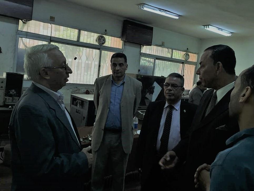 رئيس جامعة المنوفية و عميد الكلية