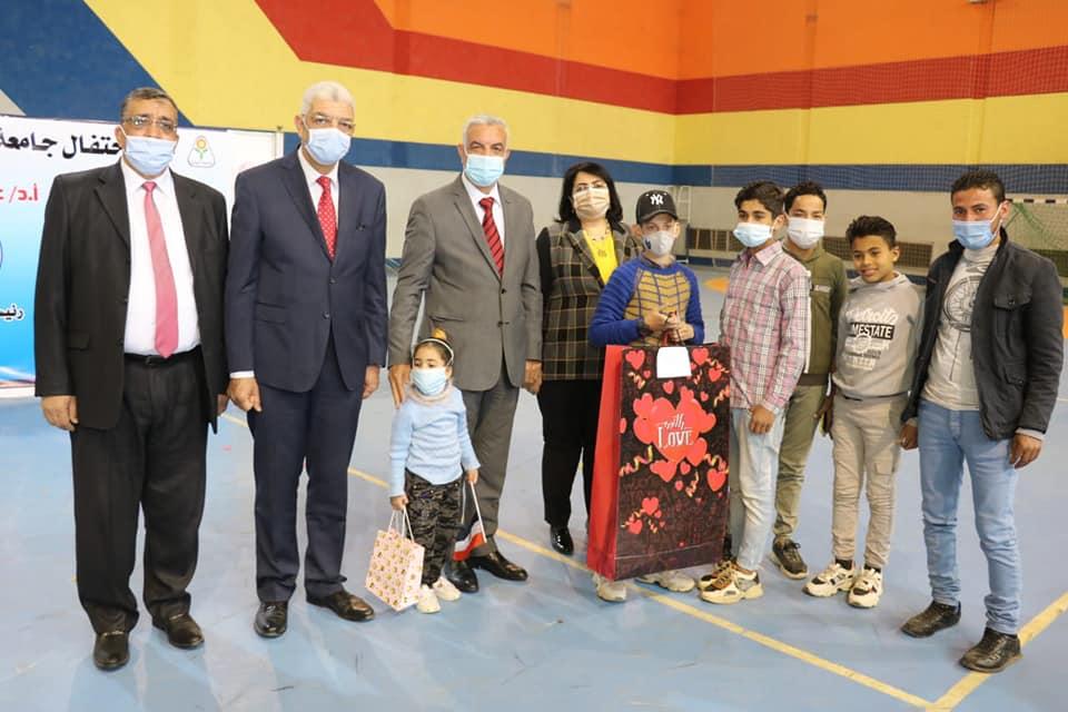 Menoufia University organized the celebration of Orphan Day under the auspices of Dr. Adel Mubarak