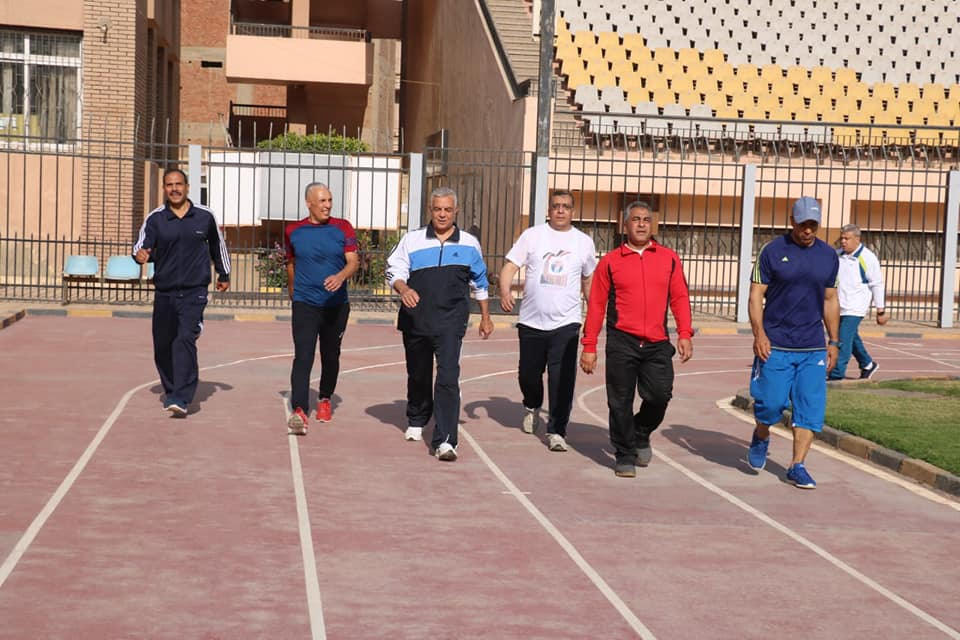 """The President of the University of Menoufia raises the motto """"sport is lifestyle"""""""
