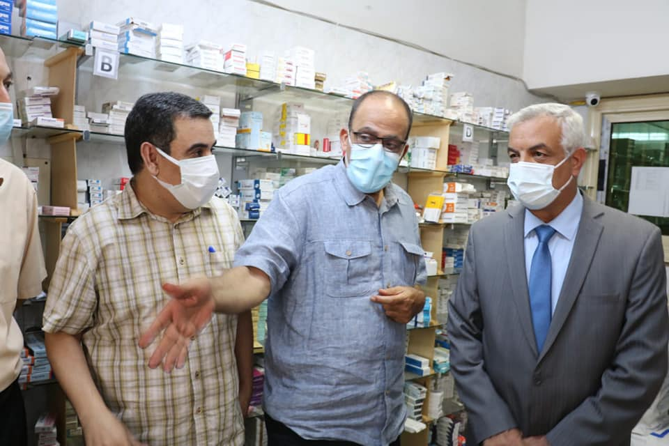 The President of Menoufia University visits the students' hospital.
