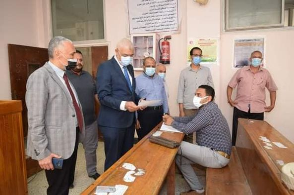 Al-Kased inspects the postgraduate exams at the Faculty of Arts, Menoufia University