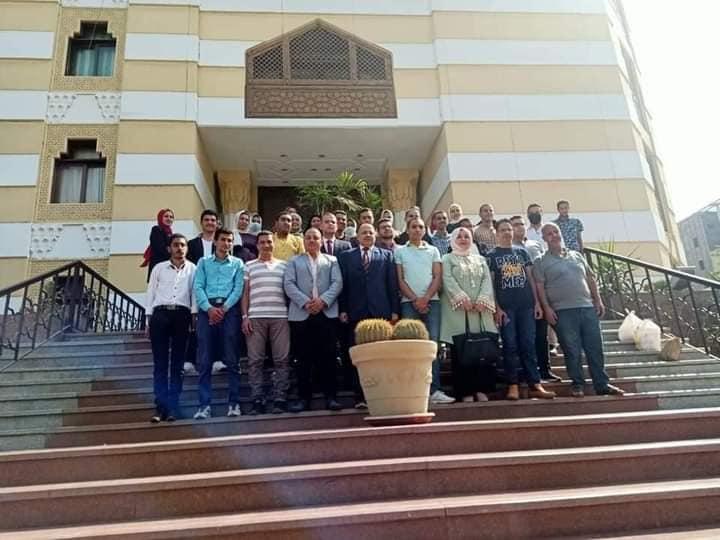 طلاب جامعة المنوفية في زيارة إلى  مرصد الأزهر للفتاوي الإلكترونية بمشيخة الأزهر