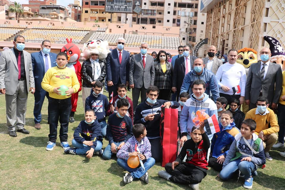 The Rector and Vice-Rectors of the University of Menoufia participate in the celebration of the annual Orphan