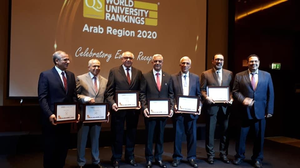 شهد الدكتور عادل مبارك رئيس جامعة المنوفية الحفل الذى تنظمه شركة استشارات التعليم العالي العالمية QS Quacquarelli Symonds ويقام بالإمارات العربية، برئاسة