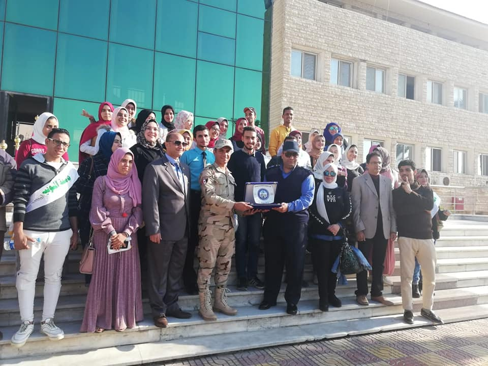 A delegation from Menoufia  University on a visit to Port Said Navy Base