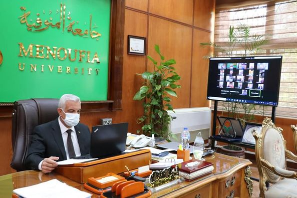 Mubarak holds committee of laboratories and scientific devices online