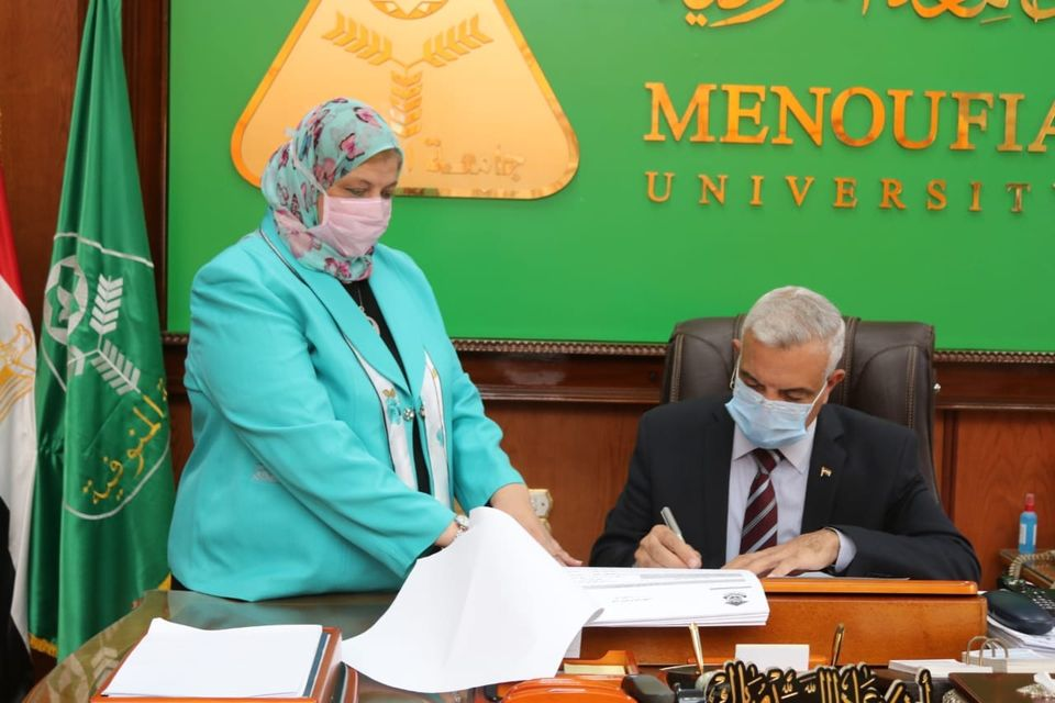Menoufia University President approves the result of the fourth year in Faculty of Nursing.