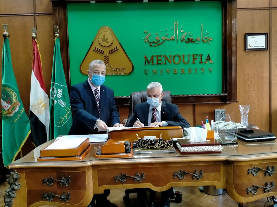 Menoufia University President approves the results of the fourth level of Faculty of Agriculture.
