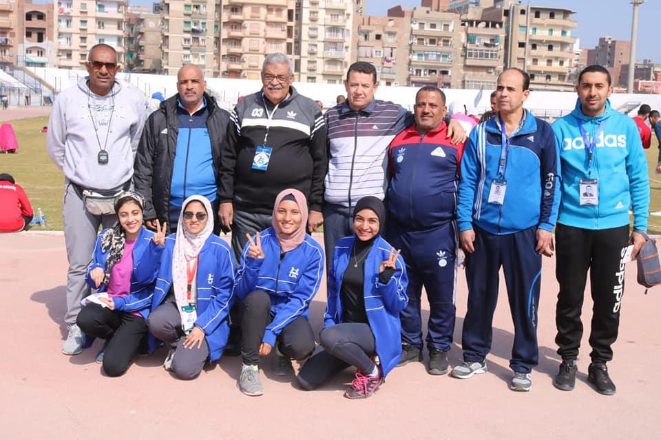 Launching the Athletics competitions at Fayoum Stadium in University Girls