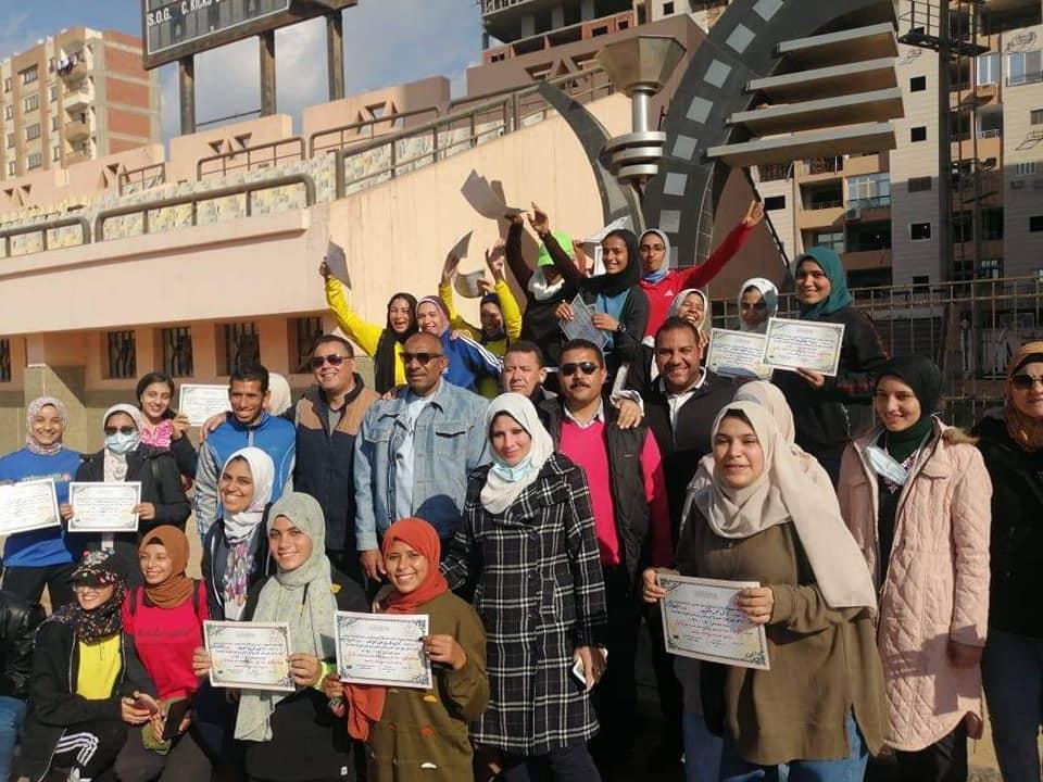 حصاد بطولة العاب القوى للطالبات بمهرجان جامعة المنوفية الرياضي