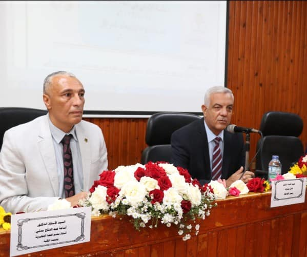 The President of Menoufia University on an inspection visit to the Faculty of Arts