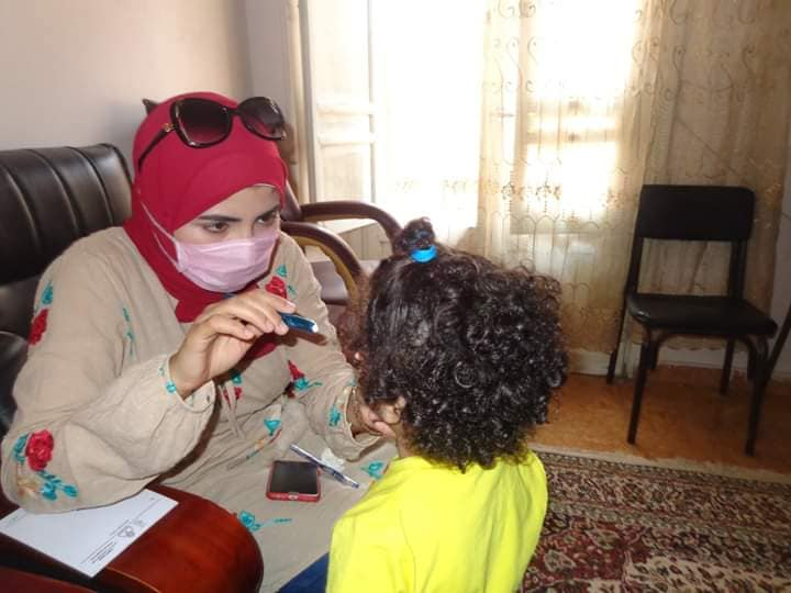 A medical convoy of the University of Menoufia revealed and provided treatment to the children of the AlSayda Nafisa Foundation,