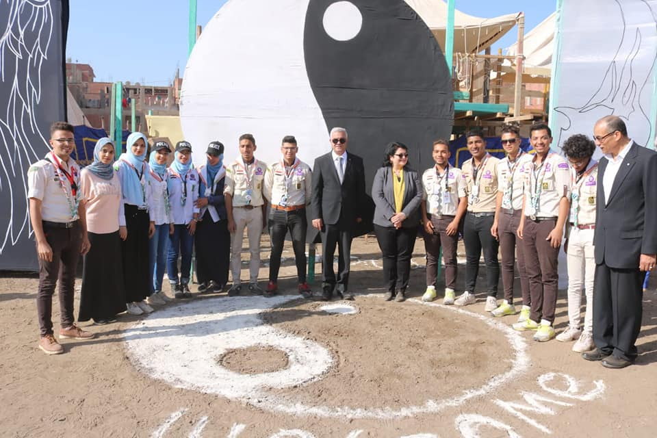 Menoufia University President and Vice President inaugurate the 37th Scout Festival.