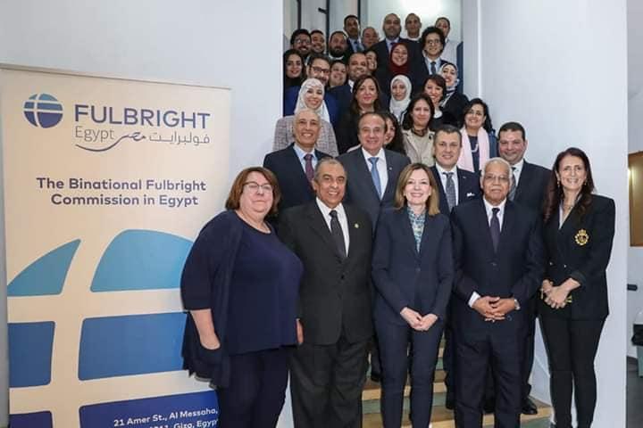 عميد آداب المنوفية في زيارة لمساعدة وزير الخارجية الامريكية ضمن فريق هيئة فولبرايت