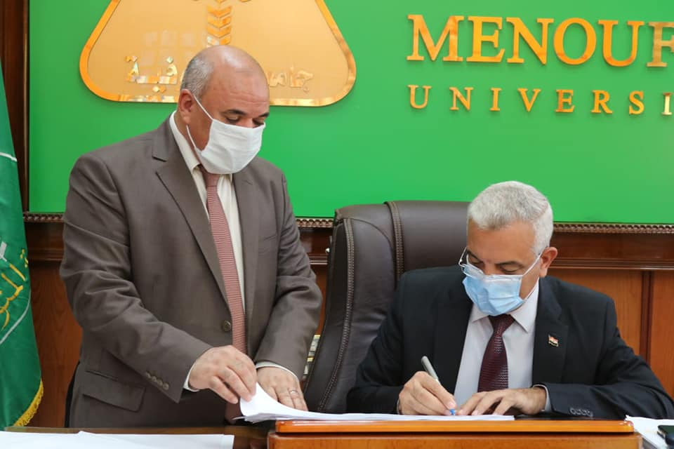Menoufia University President approves the  cumulative result of the fourth year  of computers and information