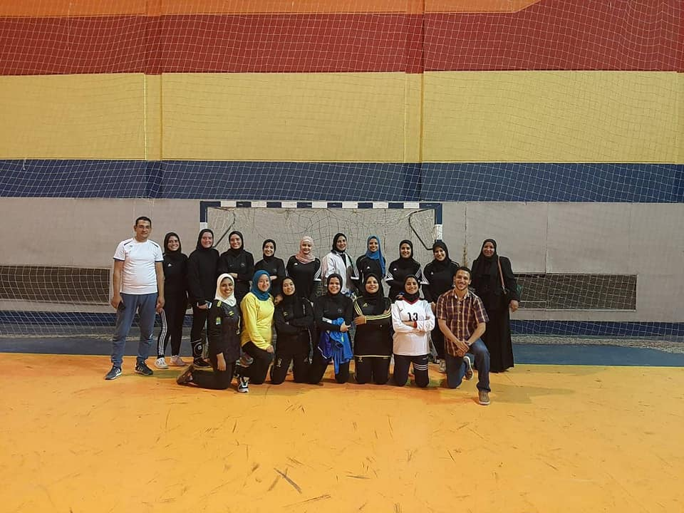 Menoufia University Handball  Female team beat  the Higher Education Team.