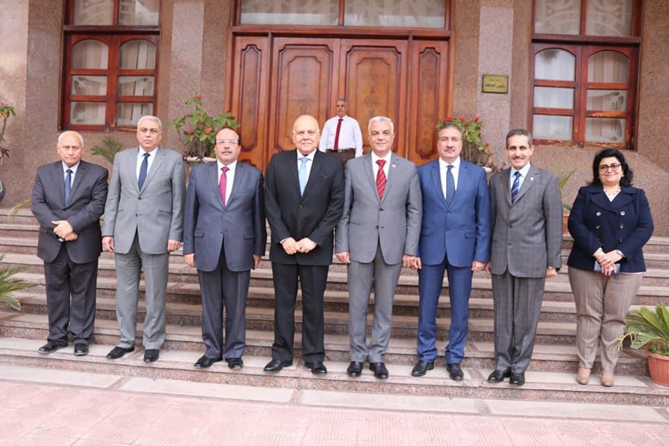 رئيس جامعة المنوفية يستقبل محافظا الغربية والمنوفية ورئيس جامعة طنطا