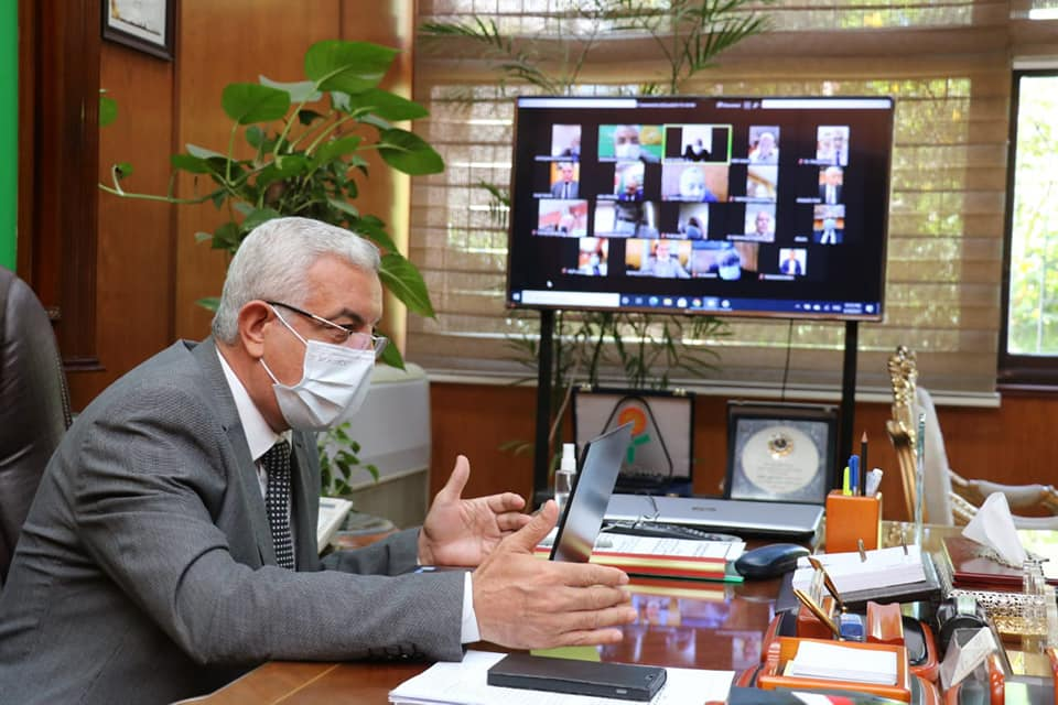 The President of the University of Menoufia holds an emergency University  Council online