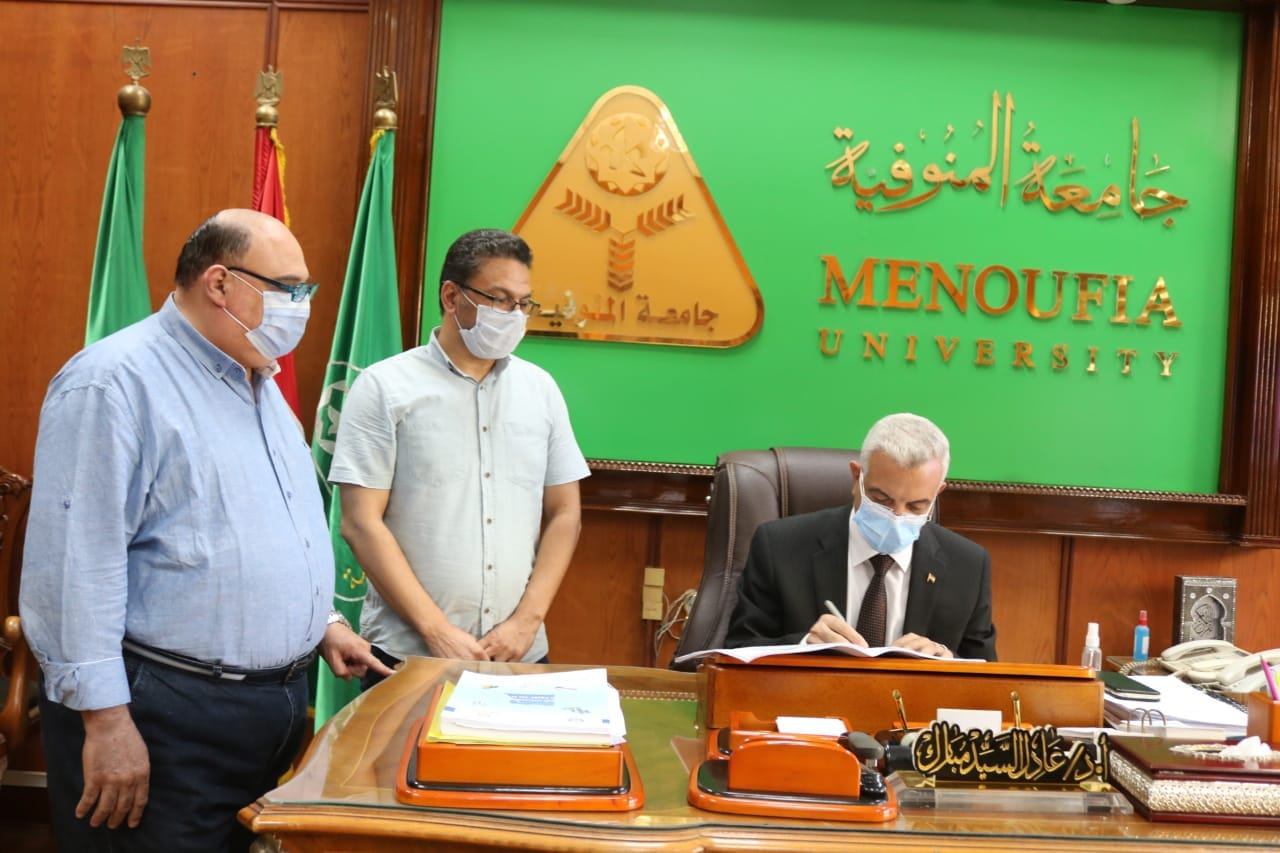 Menoufia University President approves the results of the fourth yearof Faculty of commerce.