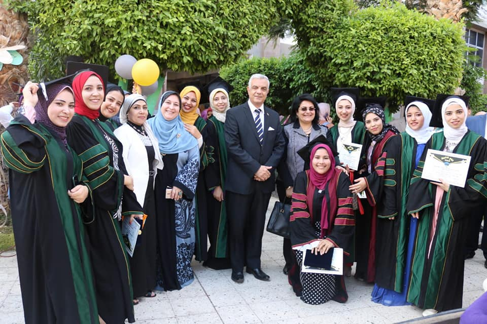 President of Menoufia  University attends the graduation ceremony of the 26th  batch of  Specific  education